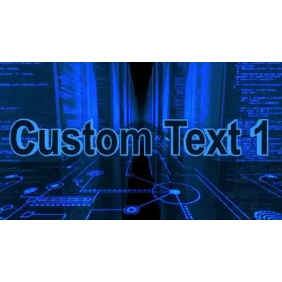 ID# 9976 - Circuit Code City Text - Video Background