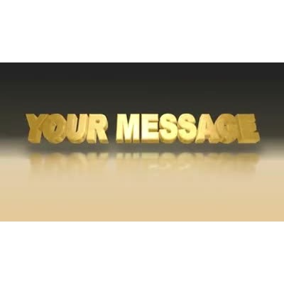 ID# 10058 - Gold Text - Video Background