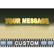 Gold Text PowerPoint Video Background