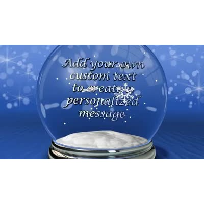 ID# 10226 - Snow Globe Text - Video Background
