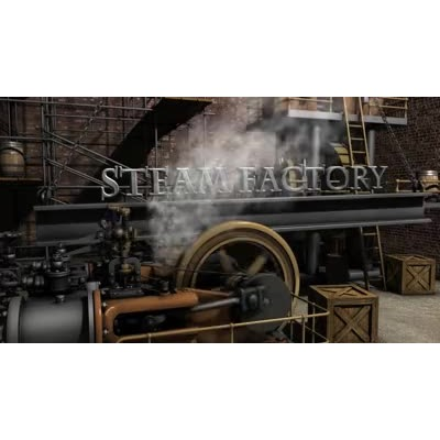ID# 10490 - Steam Factory Text - Video Background