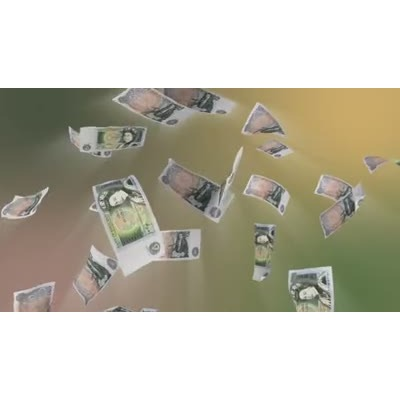 ID# 10590 - British Pound Falling - Video Background