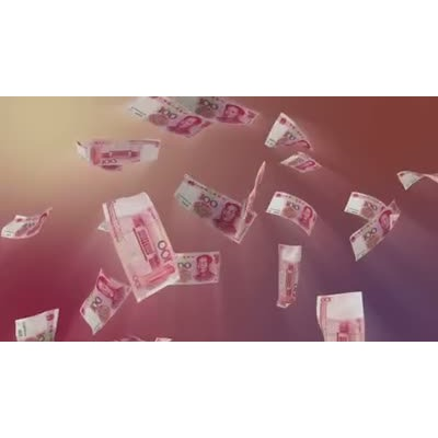 ID# 10592 - Chinese Yuan Falling - Video Background