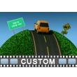 Small World Road Text PowerPoint Video Background