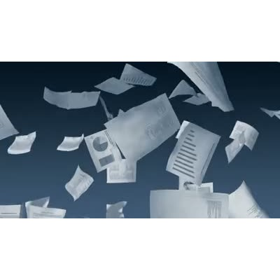 ID# 11909 - Business Paperwork Falling - Video Background