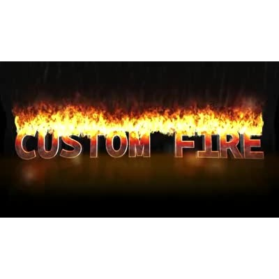 ID# 16282 - Custom Fire Text - Video Background