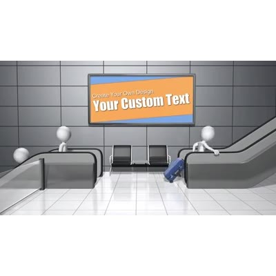 ID# 16298 - Escalator Custom Sign - Video Background