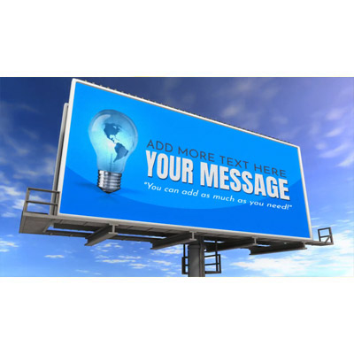 ID# 16636 - Custom one Ad Billboard - Video Background