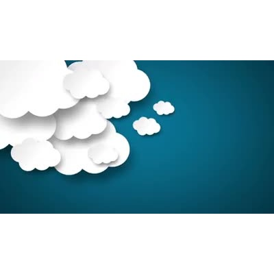 ID# 16829 - Floating 2D Clouds - Video Background