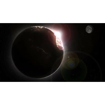 ID# 17100 - Eclipsed Earth - Video Background