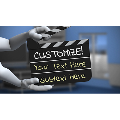 ID# 19213 - Hands Holding Clapboard Custom - Video Background