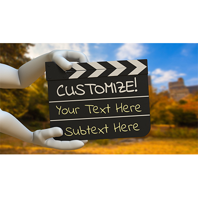 ID# 19214 - Hands Hold Out Clapboard Custom - Video Background