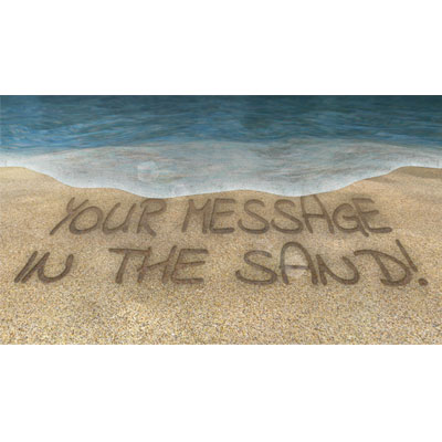 ID# 20851 - Message In The Sand - Video Background