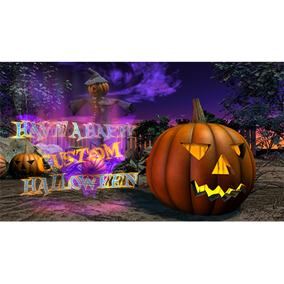 ID# 21044 - Scarecrow Pumpkin Patch Custom - Video Background