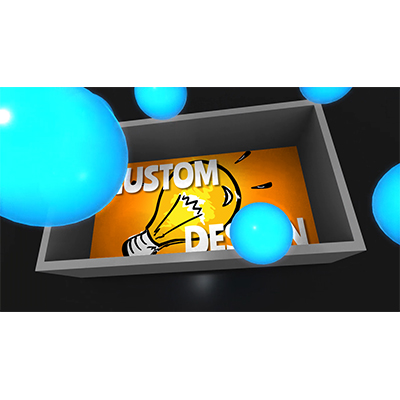 ID# 21705 - Box Of Glowing Spheres Custom - Video Background