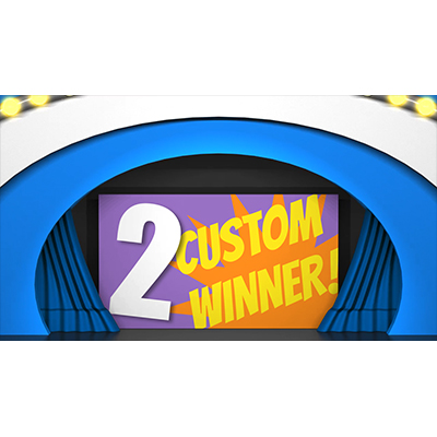 ID# 21984 - Game Show Curtain 2 Reveal Custom - Video Background