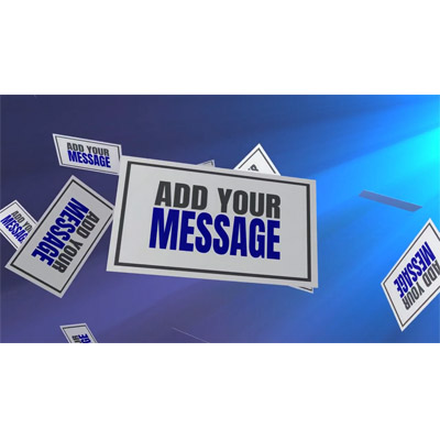 ID# 22094 - Falling Message Cards Custom - Video Background