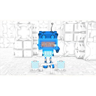 ID# 22340 - Boxy Robot Console Custom - Video Background