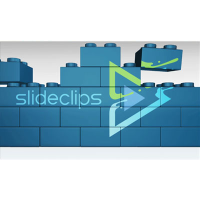 ID# 24124 - Building Blocks Custom Wall Logo Reveal - Video Background