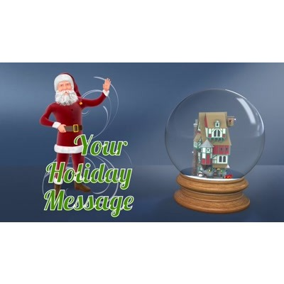 ID# 24406 - Santa Workshop Snowglobe Custom - Video Background
