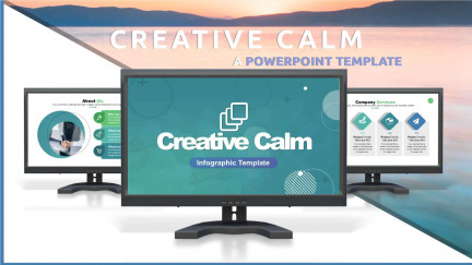 A collage of presentation slides from Creative Calm PowerPoint Template