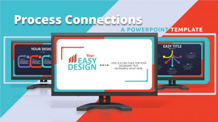 A collage of presentation slides from Easy Design template for PowerPoint PowerPoint Template