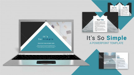 A collage of presentation slides from Its So Simple PowerPoint Template