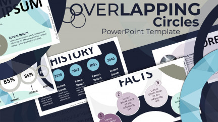 A collage of presentation slides from Overlapping Circles PowerPoint Design Template PowerPoint Template