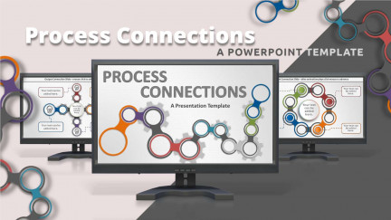 A collage of presentation slides from Process Connections PowerPoint Template